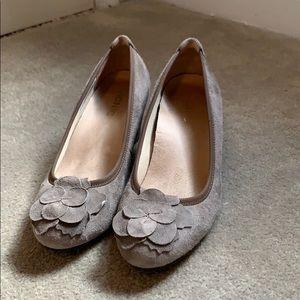 Gray heels.